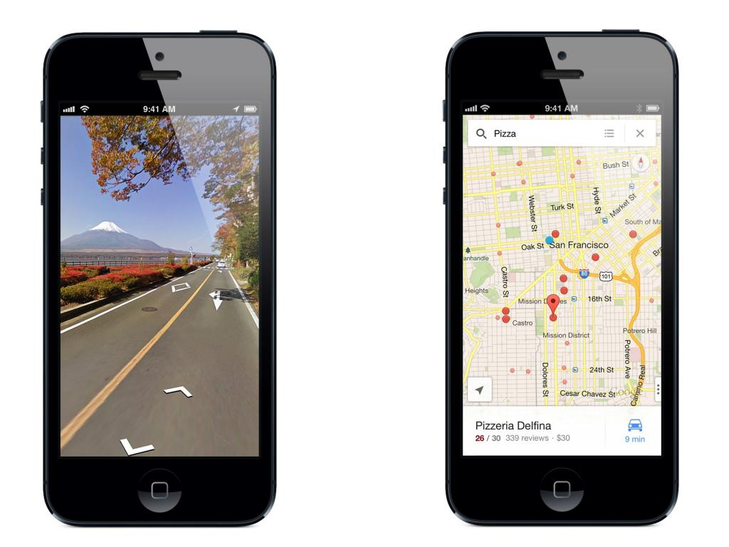how to use goofle maps on iphone