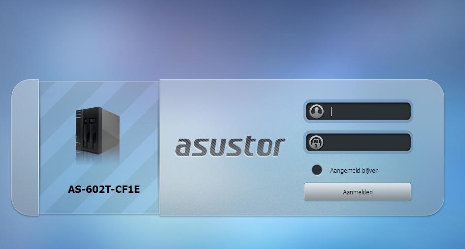 Asustor-homepage-login