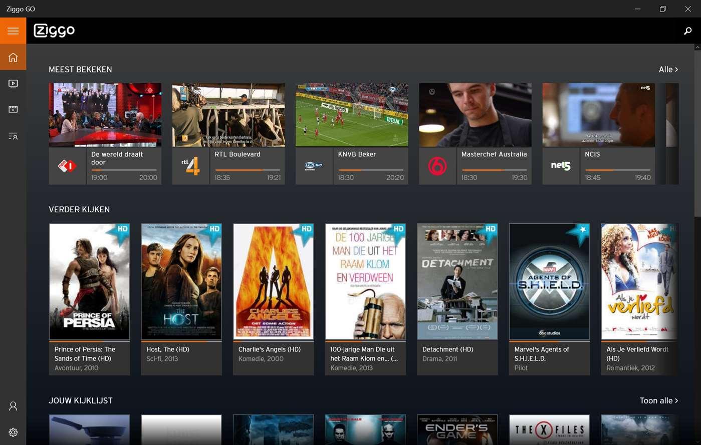 TV-app Ziggo Go beschikbaar voor Windows 10 - Technieuws