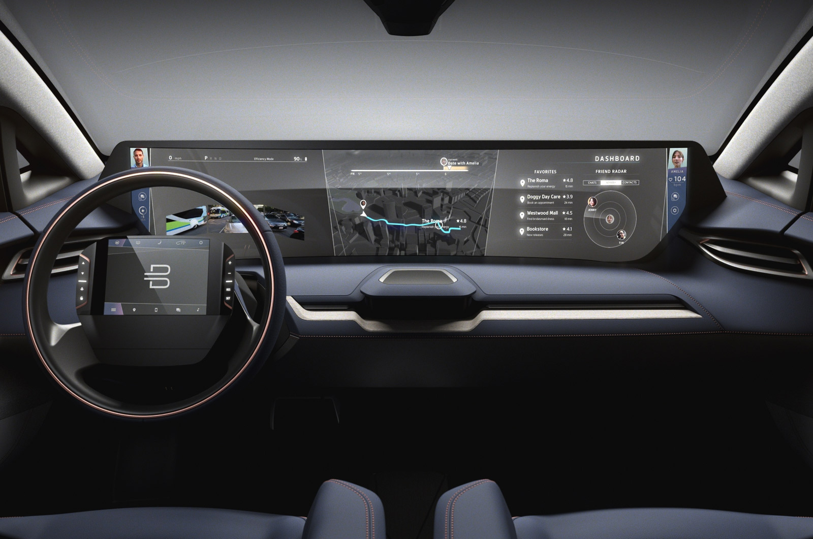 Byton onthult elektrische auto met 49-inch touchscreen - Technieuws